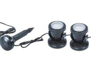Светильник светодиод.белый теплый, 2.5Вт х 3шт (к-т), пластиков, c датч света, с трансф 12В (JAD), арт. SDL-203
