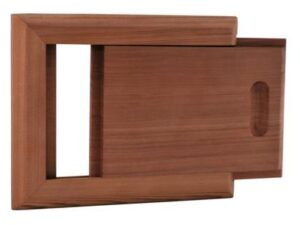 Вентиляционная задвижка малая SAWO (кедр), арт. 620-D
