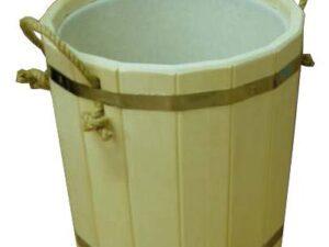 Запарник 10л с пластмассовой вставкой, без крышки (липа), арт. ЗП-10