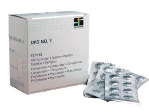 Таблетки DPD №3 (10шт) для измерения уровня связанного хлора ручным тестером, арт. 01425
