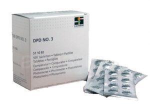 Таблетки DPD №3 (10шт) для измерения уровня общего хлора фотометром, арт. 1009183